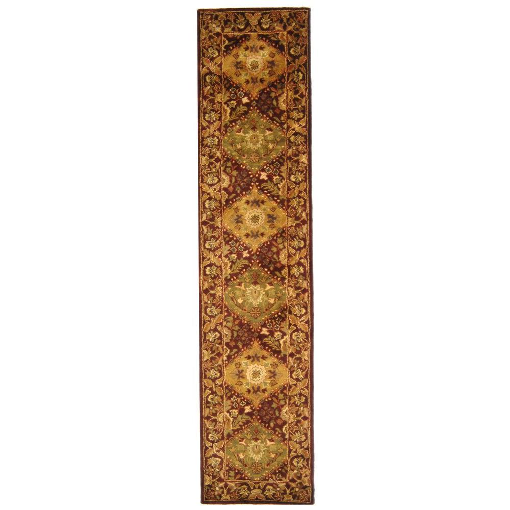 Antiquity Wine 2 ft. x 10 ft. Runner Rug