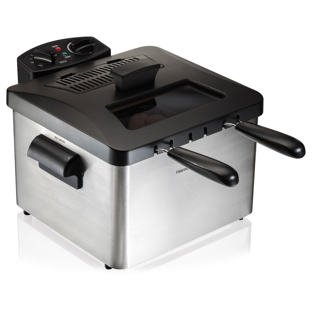 Hamilton Beach Professional-Style 3-Basket Deep Fryer, St...