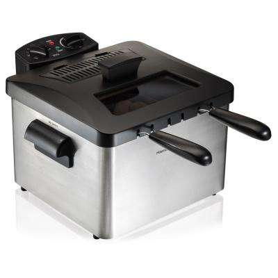 Professional-Style 3-Basket Deep Fryer