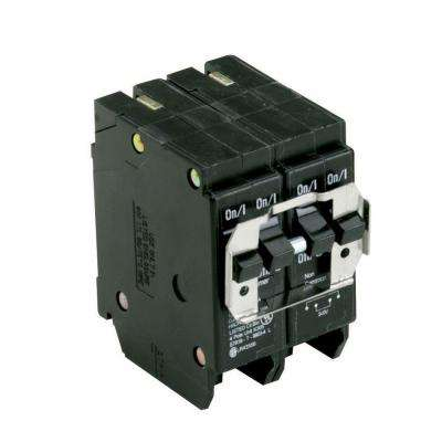 One 20 Amp 2 Pole and One 40 Amp 2 Pole Type BR, BQ Quadplex Circuit Breaker