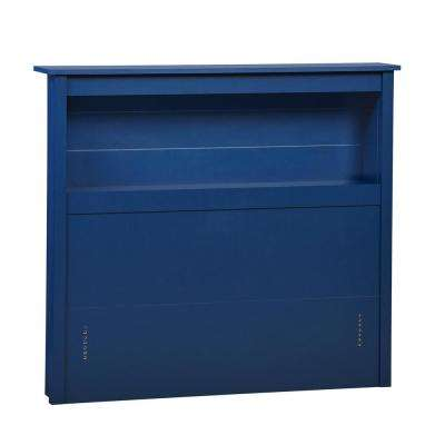 Morgan Blue Twin Sized Storage Headboard
