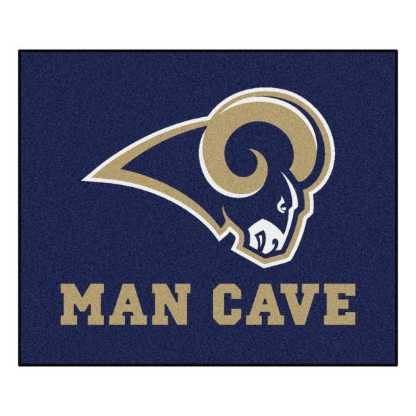 Los Angeles Rams Blue Man Cave 5 ft. x 6 ft. Area Rug