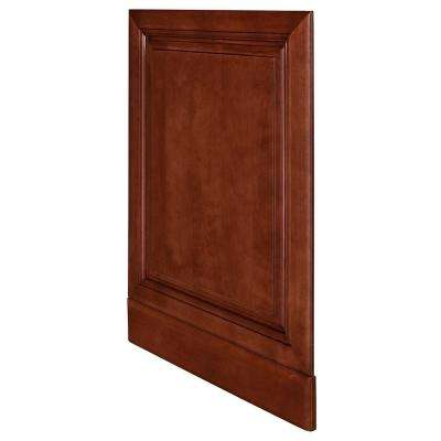Lyndhurst Assembled 24 x 34.5 x .75 in. Lyndhurst Matching Base End Panel in Cabernet