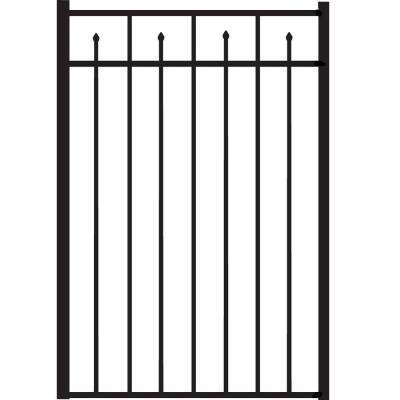 Brilliance Standard-Duty 3 ft. W x 4.5 ft. H Black Aluminum Straight Pre-Assembled Fence Gate