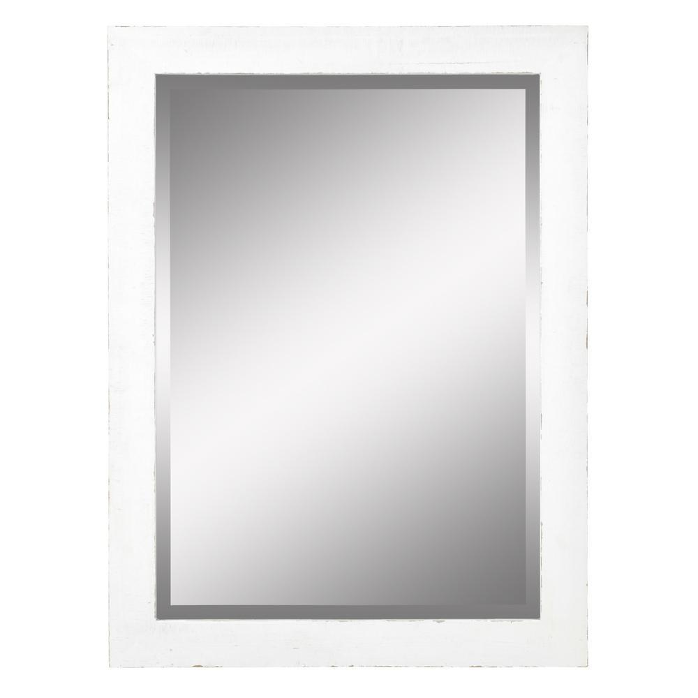 30 x 40 mirror. Morris White Wall Mirror 30 X 40 H