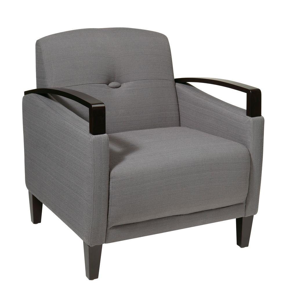 OSP Home Furnishings Main Street Charcoal Fabric Arm Chair MST51-W12