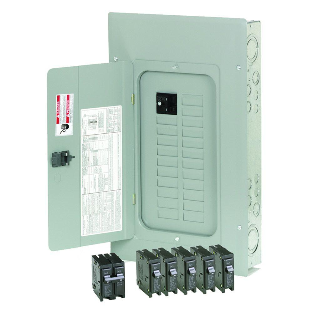 Eaton 100 Amp 20-Space 20-Circuit Indoor Main Breaker Loadcenter with  Combination Cover