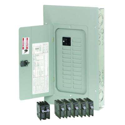 100 Amp 20-Space/Circuit Type BR Main Breaker Load Center Value Pack (Includes 6 Breakers)