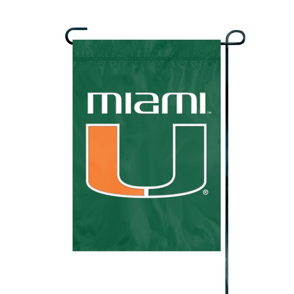 Sports Mem, Cards & Fan Shop Miami Hurricanes Garden Flag