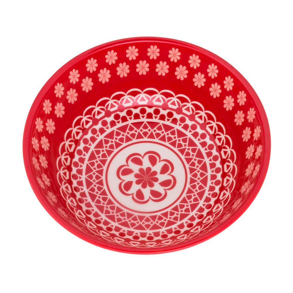 Full Bowl 20.29 oz. Red Earthenware Soup Bowls (Set of 6)
