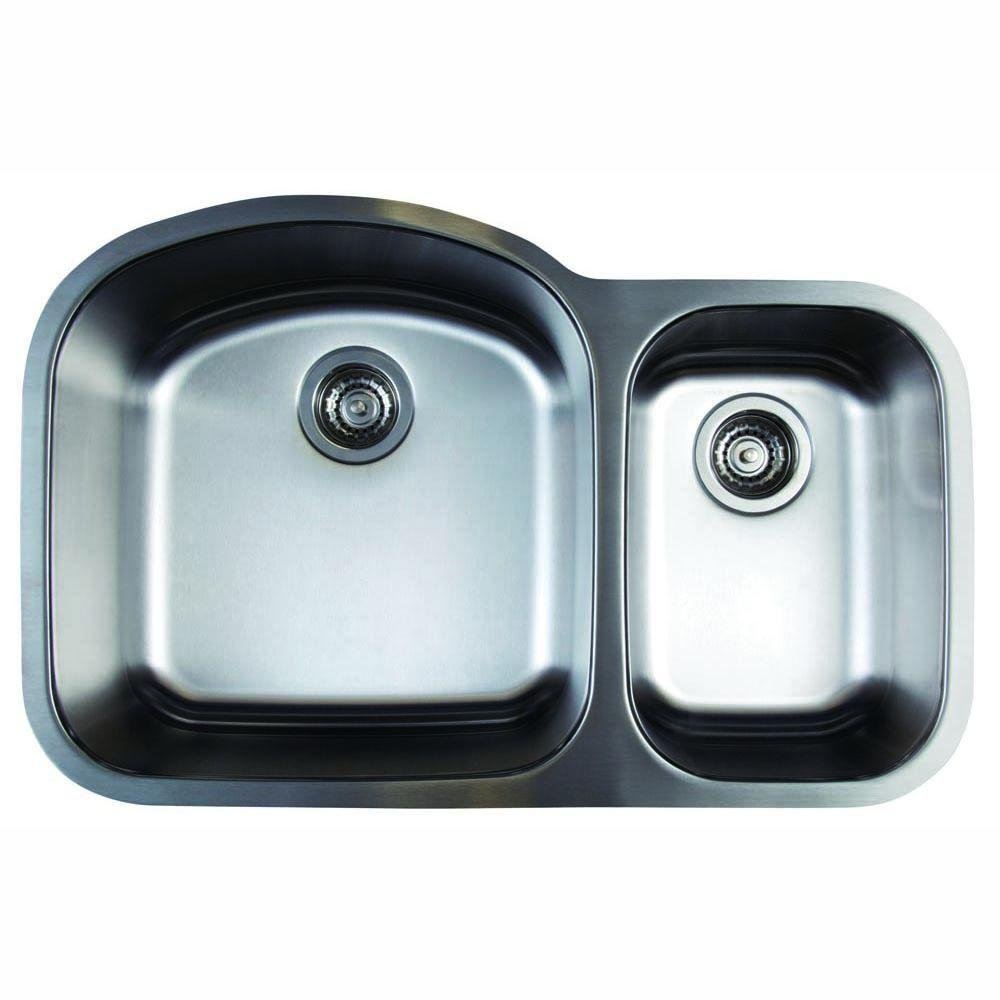 Blanco Stellar Undermount Stainless Steel 32 in. 1.6 Double Bowl ...