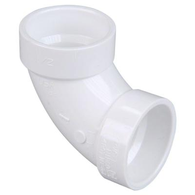 1-1/2 in. PVC DWV 90-Degree Hub x Hub Elbow Fitting