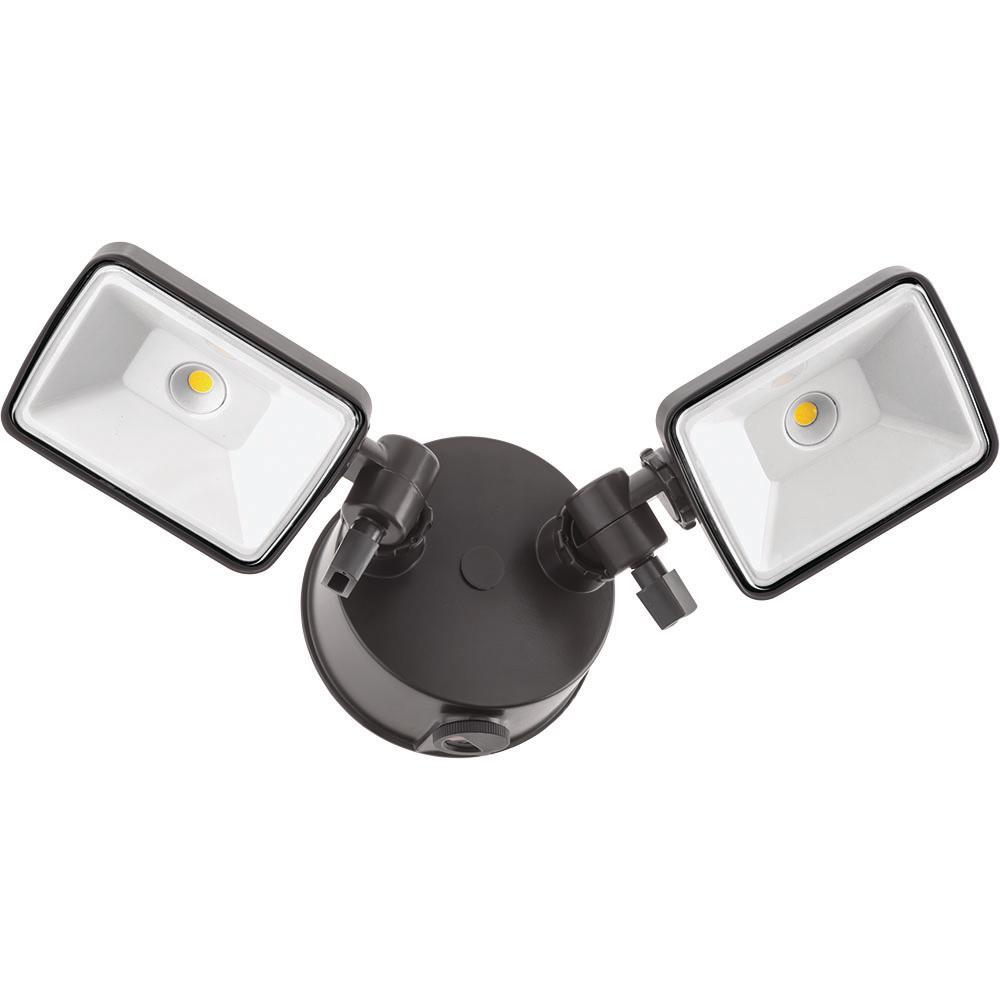 Lithonia Lighting Led Outdoor Flood Light: Lithonia Lighting OLF 2SH 120-Volt Bronze Outdoor