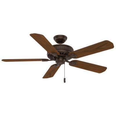 Ainsworth 54 in. Indoor Brushed Cocoa Bronze Ceiling Fan