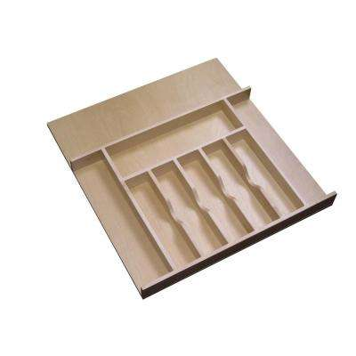 2.38 in. H x 20.62 in. W x 22 in. D Large Cabinet Drawer Wood Cutlery Tray Insert