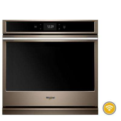 30 in. Smart Single Electric Wall Oven with True Convection Cooking in Fingerprint Resistant Sunset Bronze