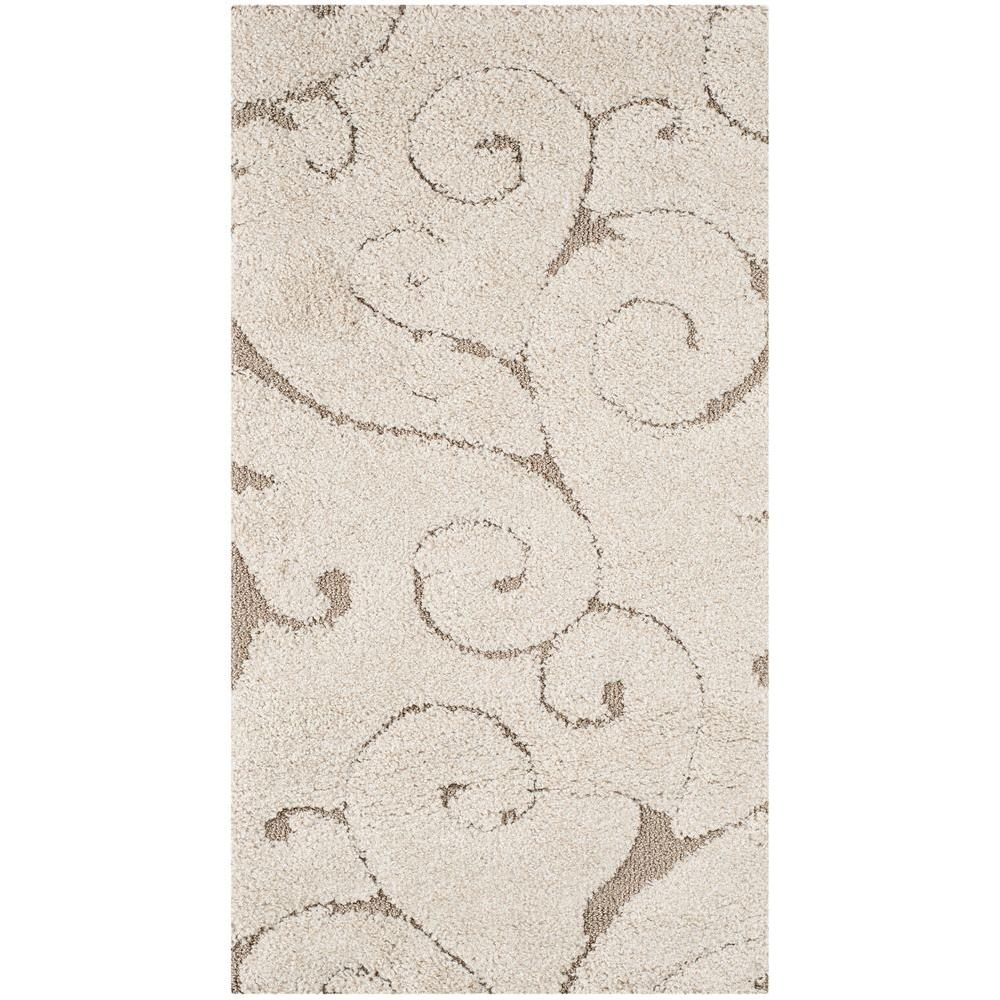 Safavieh Florida Shag Cream Beige 2 Ft X 4 Ft Area Rug Sg455 1113
