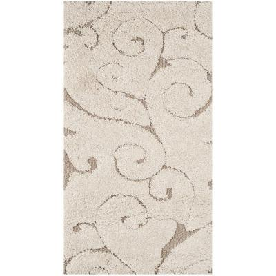 Florida Shag Cream/Beige 2 ft. x 4 ft. Area Rug