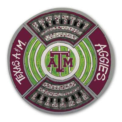 Texas A and M Football Stadium Melamine Platter