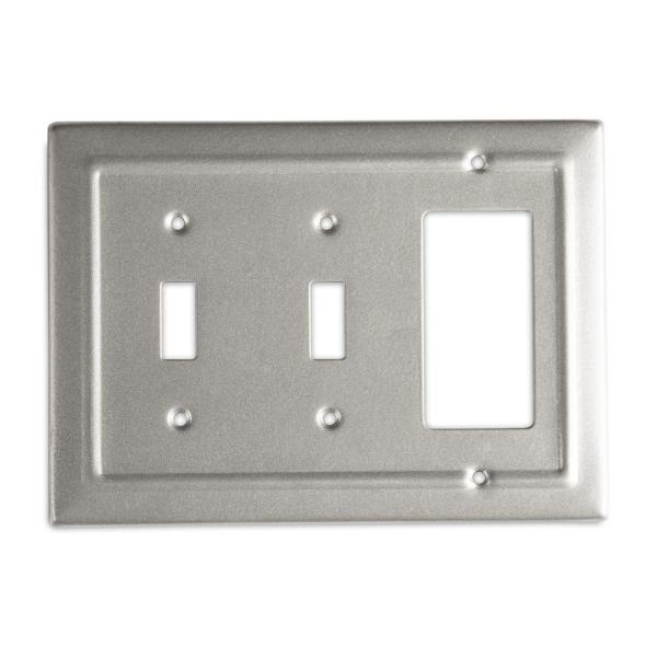 Pewter 3-Gang 2-Toggle/1-Decorator/Rocker Wall Plate (1-Pack)