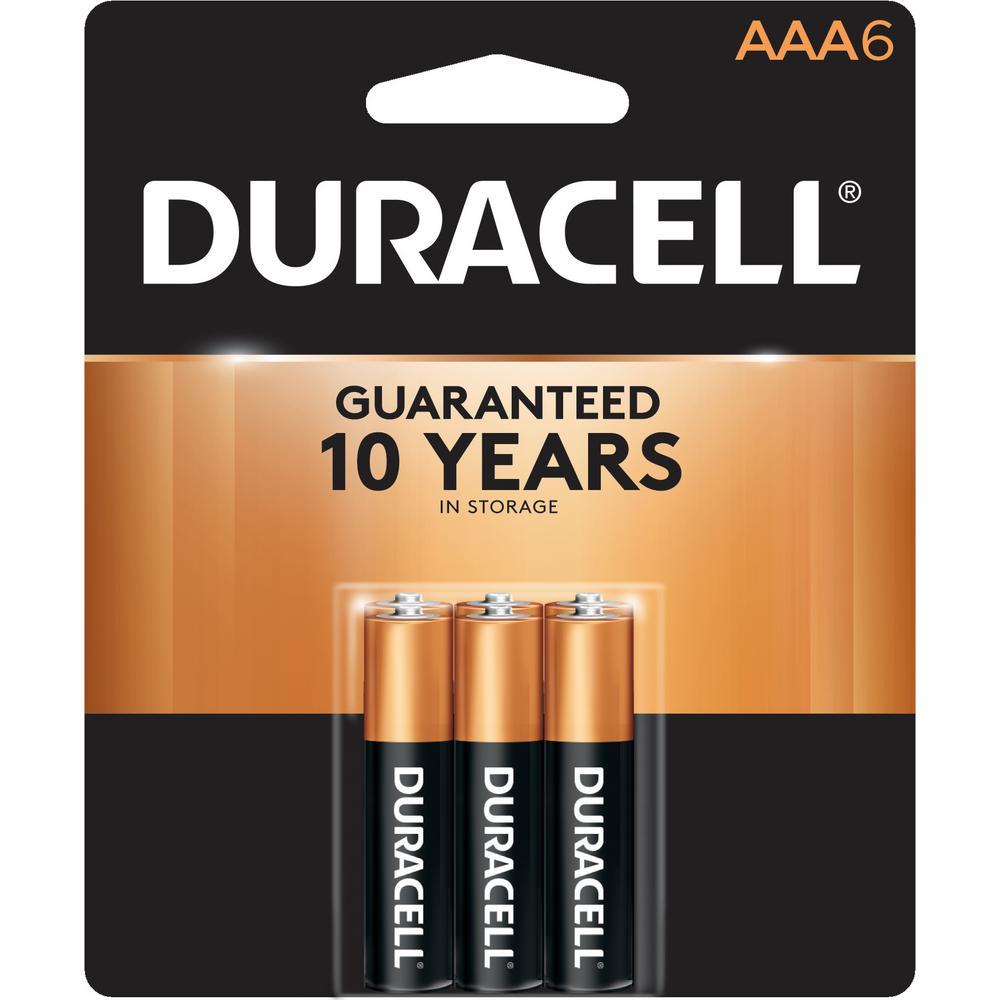 Duracell Coppertop Alkaline AAA Battery (6-Pack)