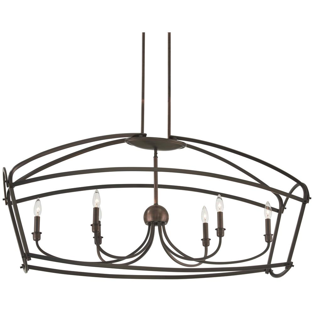 Minka lavery jupiters canopy 6 light harvard court bronze pendant