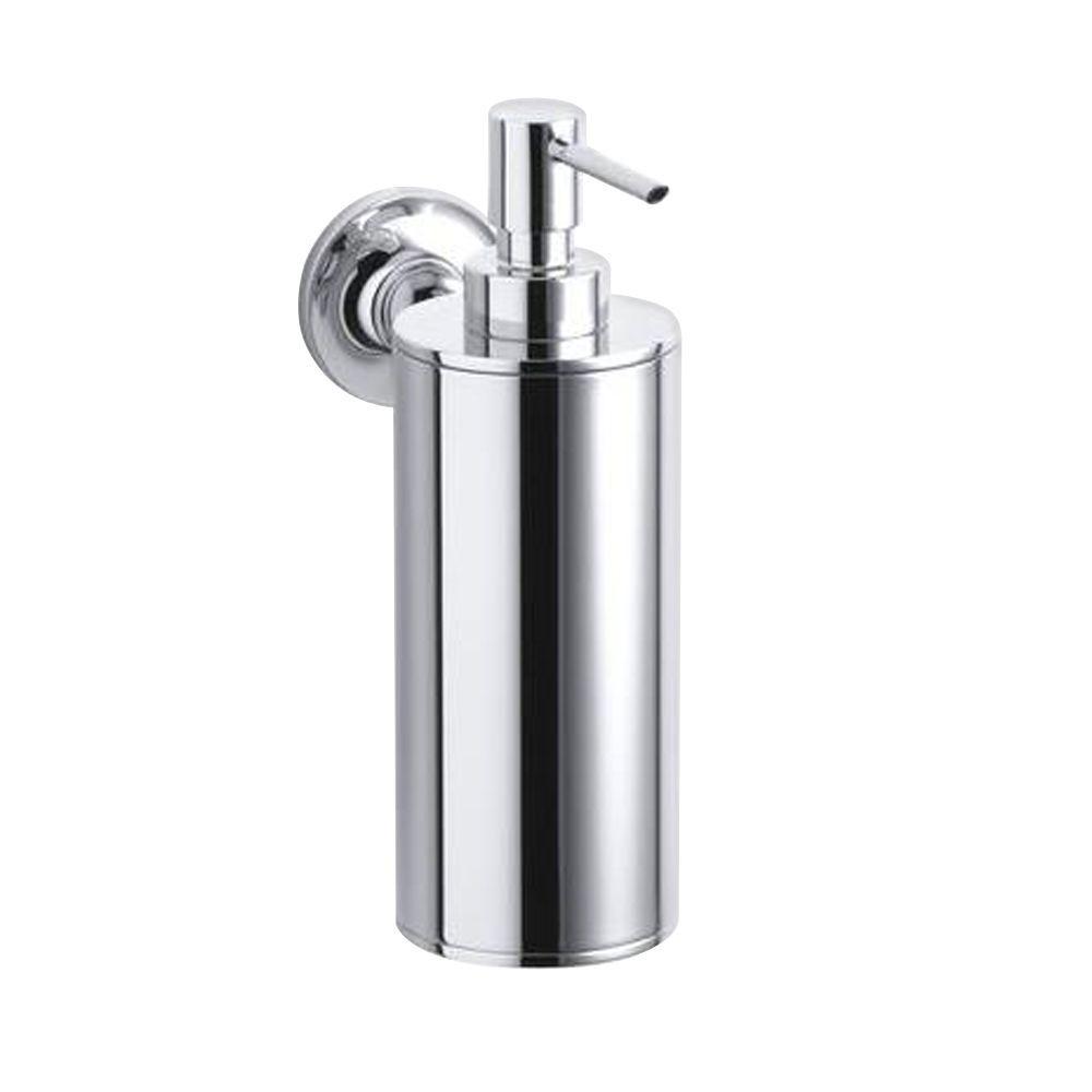 Kohler Purist Wall Mount Metal Soap Dispenser In Polished Chrome K