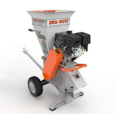 5.25 x 3.5 in. 420cc Self Feed Gas Chipper Shredder with 120V Electric Start, Unique 3-in-1 Discharge, Gloves, Goggles