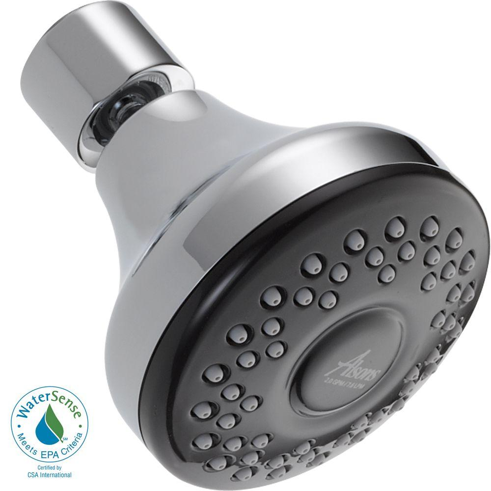 Delta 1-Spray 2.0 GPM 2-7/8 in. Shower Head in Chrome