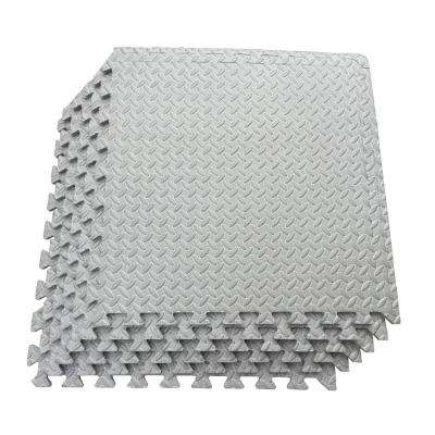 Multi-Purpose Grey 24 in. x 24 in. EVA Foam Interlocking Anti-Fatigue Exercise Tile Mat (6-Pack)