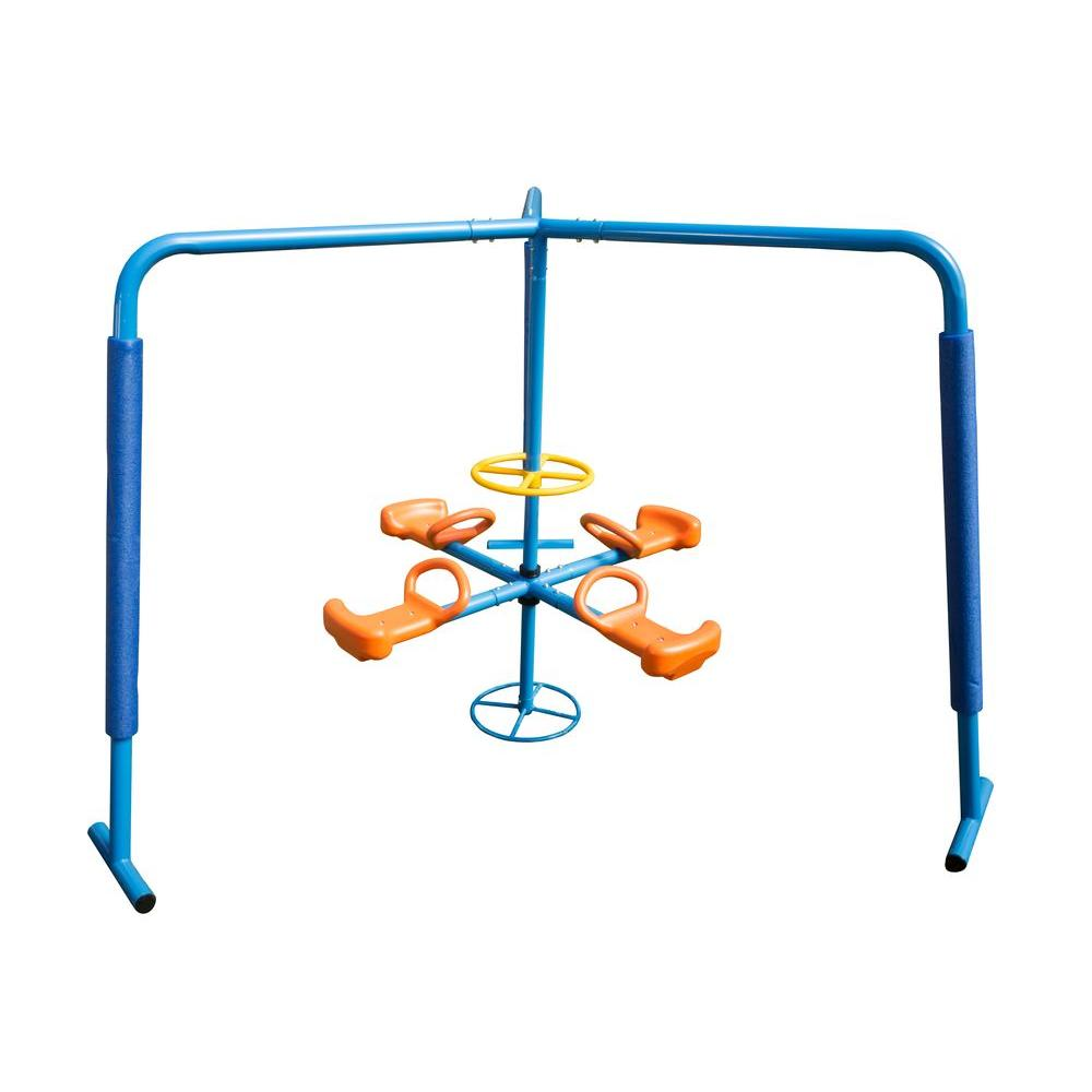 IronKids 4-Station Fun Filled Merry Go Round Playset