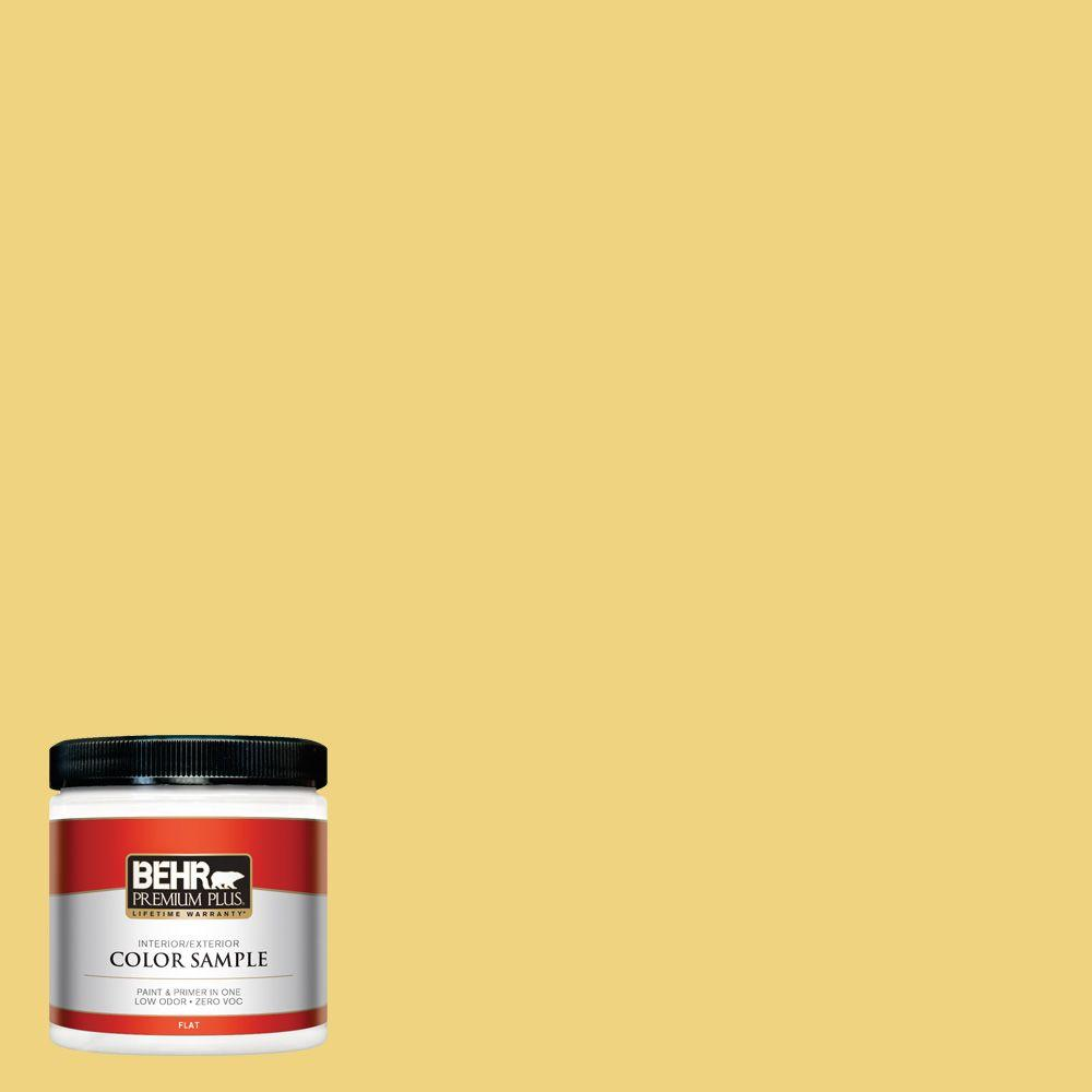 BEHR Premium Plus 8 oz. #380D-4 Feather Gold Interior/Exterior Paint Sample