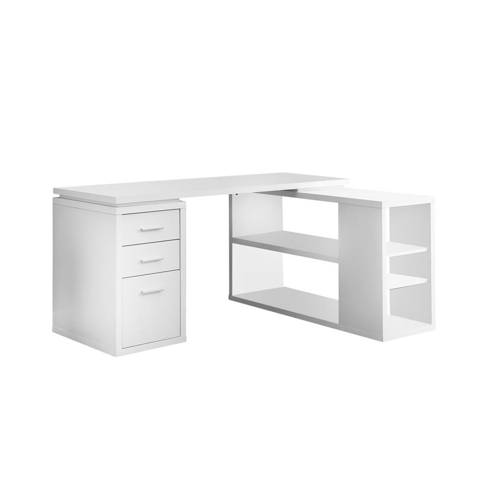 2-Piece White Office Suite