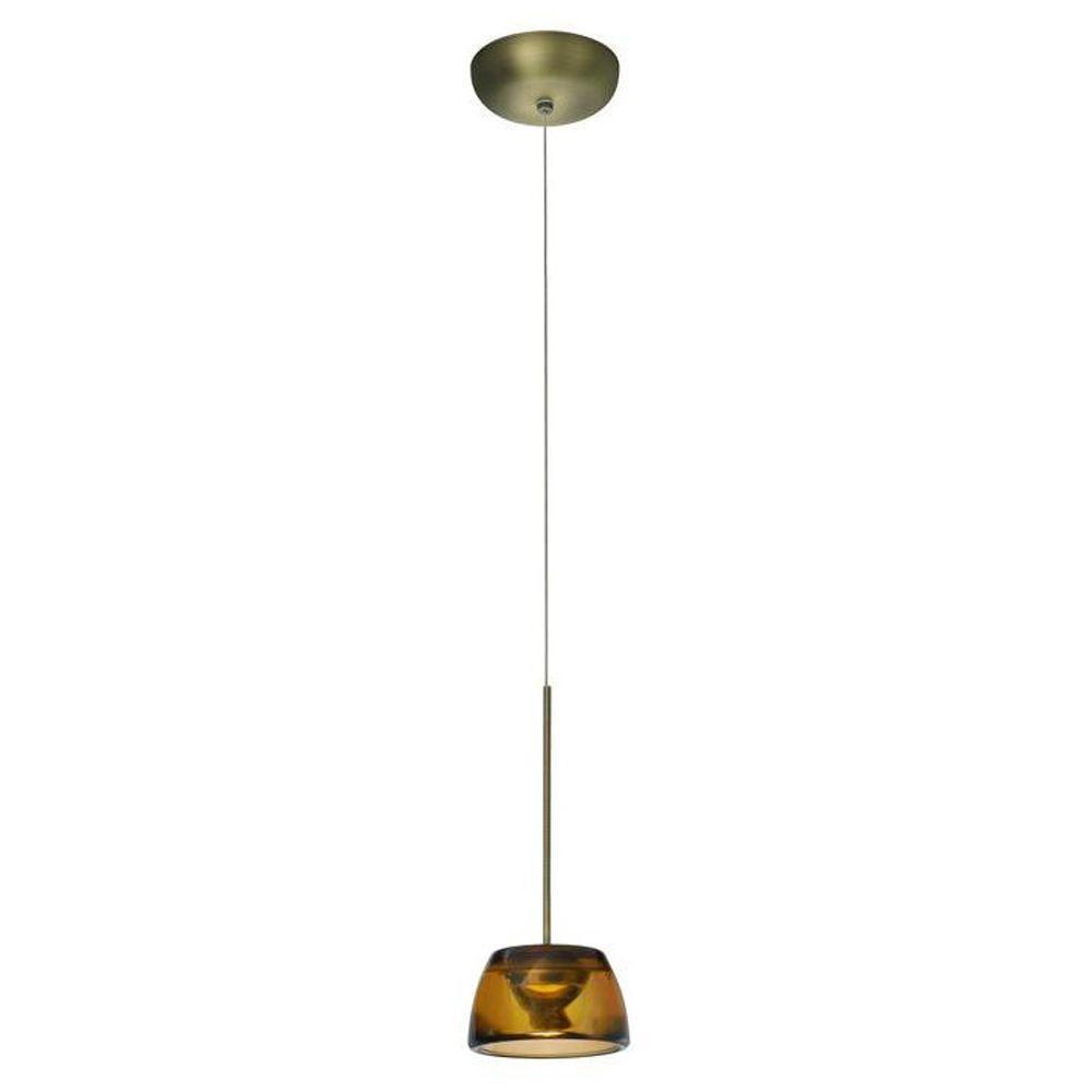 Philips Clario 1-Light Brushed Bronze LED Hanging Pendant