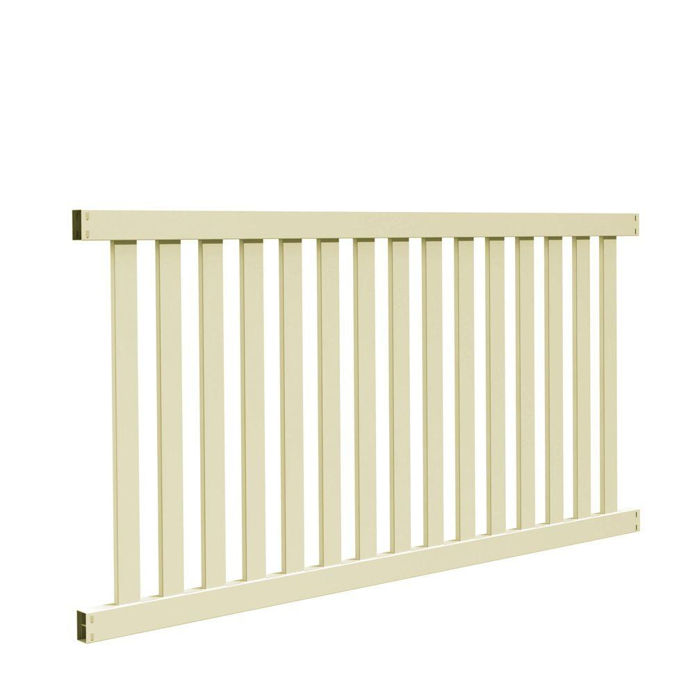 Veranda Ohio 4 ft. H x 8 ft. W Sand Vinyl Un-Assembled Fence Panel