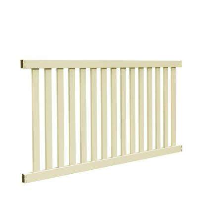 Ohio 4 ft. H x 8 ft. W Sand Vinyl Un-Assembled Fence Panel