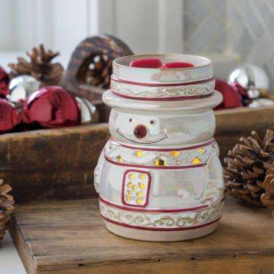 7.3 in Snowy 2-in-1 Flickering Fragrance Warmer