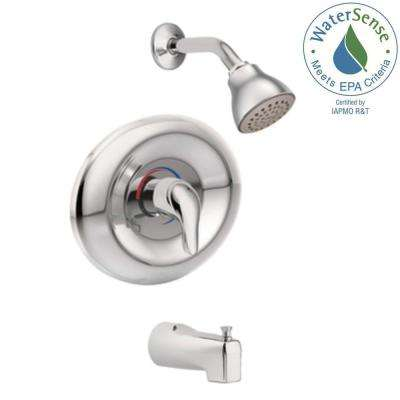 Chateau Single-Handle 1-Spray Tub and Shower Faucet in Chrome (Valve Included)