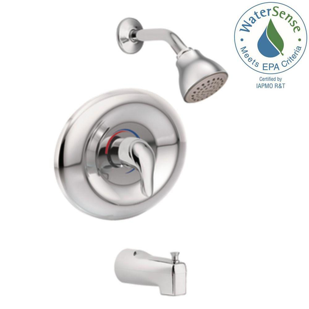 Tub And Shower Valve.Moen Chateau Single Handle 1 Spray Tub And Shower Faucet In Chrome Valve Included