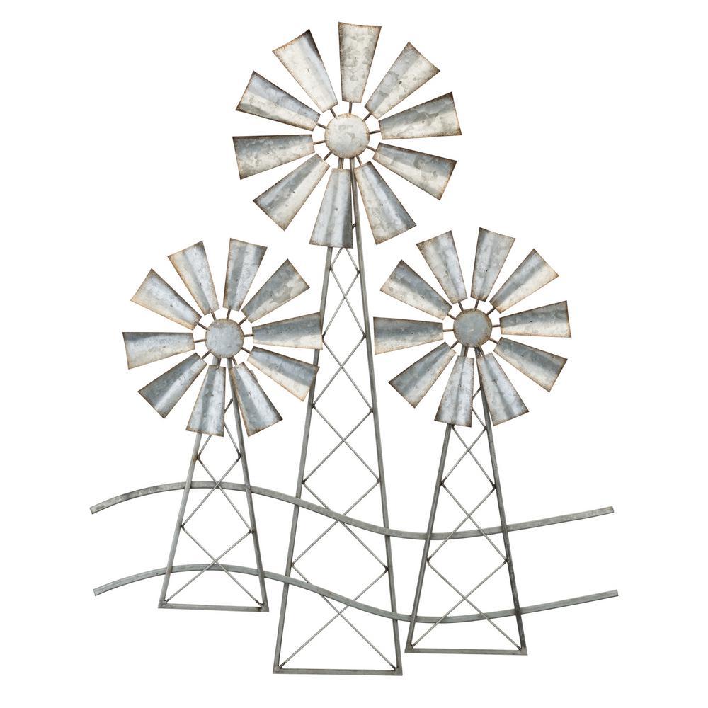 Regal Art Gift 3 Windmills Wall Decor