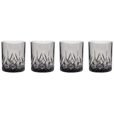Aurora Twilight 14 oz. DOF Tumbler in Gray (Set of 4)