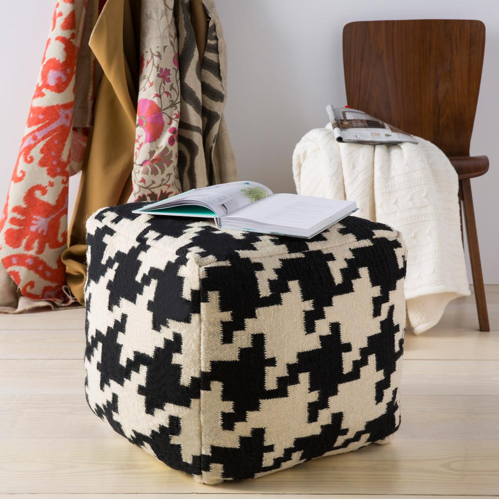 Artistic Weavers Onnoki Black Accent Pouf