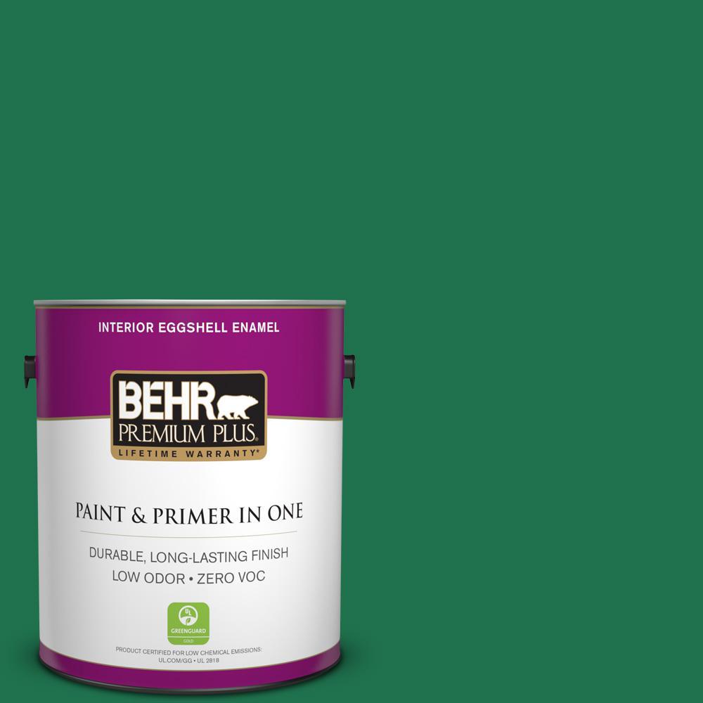 BEHR Premium Plus 1-gal. #470B-7 Climbing Ivy Zero VOC Eggshell Enamel Interior Paint