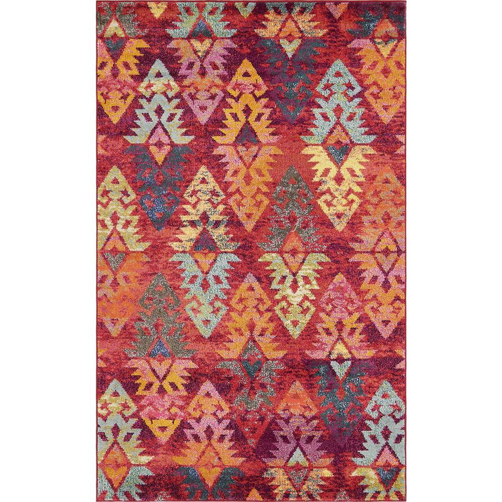 Stylewell StyleWell Sedona Desert Pink 5 ft. x 8 ft. Area Rug, Rust Red