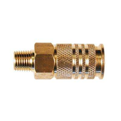 1/4 in. Universal Brass Coupler with 1/4 in. Male NPT