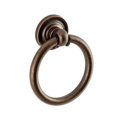 Large 1.75 in. Antique Brass Ring Pull