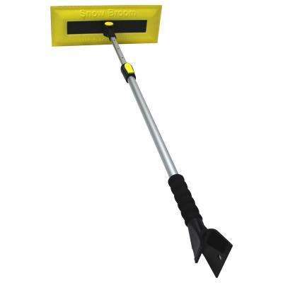Bigfoot Series 52 in. Telescoping Handle Car Snow Brush and Ice Scraper
