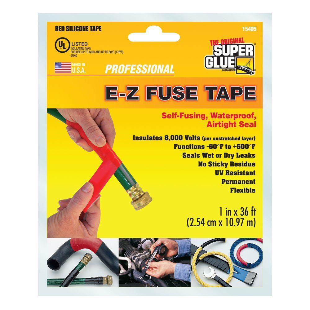 Super Glue 1 In X 36 Ft Red E Z Fuse Silicone Tape 12