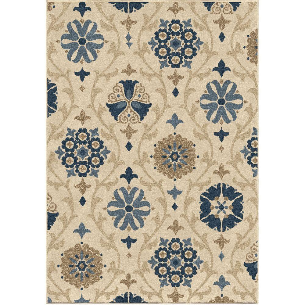 Indio Ivory 5 ft. 2 in. x 7 ft. 6 in.