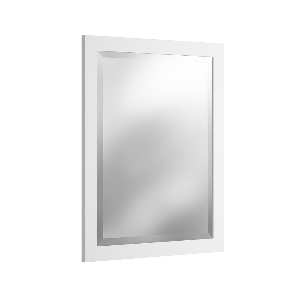 alaterre furniture 24 in w x 30 in h beveled vanity mirror in white amir0050 the home depot. Black Bedroom Furniture Sets. Home Design Ideas